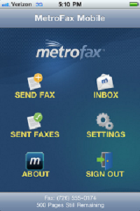MetroFax Mobile App