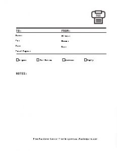 Ready-to-Send Fax Cover Sheet 2