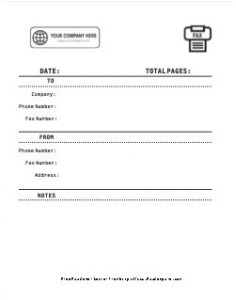 Company Logo Fax Cover Sheet 4