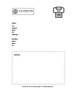 Company Logo Fax Cover Sheet 8