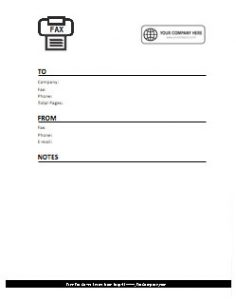 Company Logo Fax Cover Sheet 9