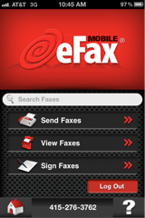 Mobile Fax with eFax