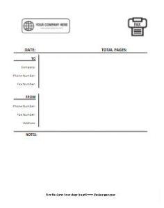 Company Logo Fax Cover Sheet 5