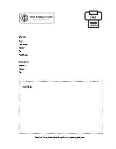 Company Logo Fax Cover Sheet 8