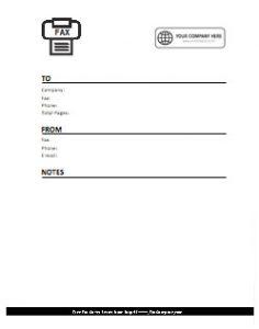 Company Logo Fax Cover Sheet 9