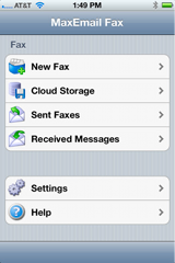Fax by Phone app with MaxEmail